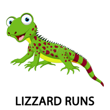 lizzard runs